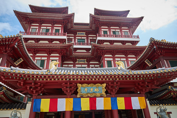 Buddha Tooth Relic Temple and Museum in the Chinatown district of Singapore