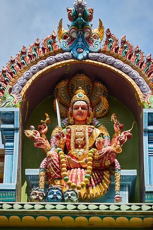 Detail of The Sri Veeramakaliamman Temple in the district of Little India