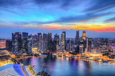 Singapore Skyline Sunset