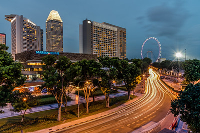 View of Singapore Flyer from The Esplanade Mall