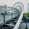 View of Singapore Flyer from the Helix Bridge.