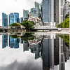 Reflection of Singapore's downtown.