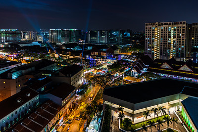 View of Geylang Serai Market during Ramadan at night.