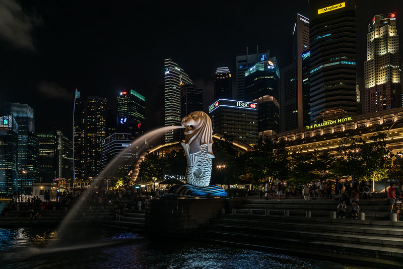 The Merlion at Merlion Park.
