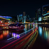 Clarke Quay at night.