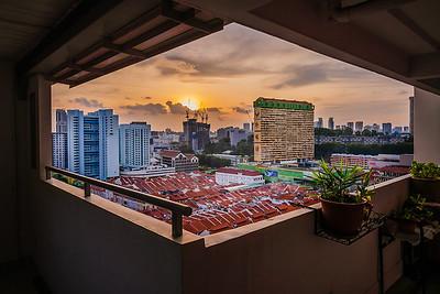 Sunset view at Chinatown.