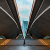 Symmetry under the Esplanade Bridge.