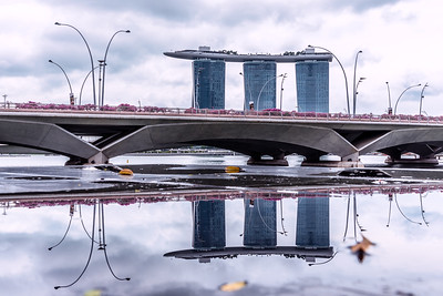 Reflection of Marina Bay Sands.