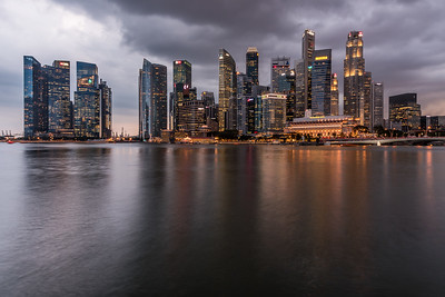 Singapore's Marina Bay Skyline.