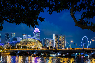 View of Marina Bay skyline.