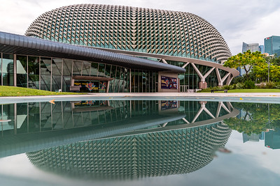 Reflection of Esplanade - Theatres by the Bay.