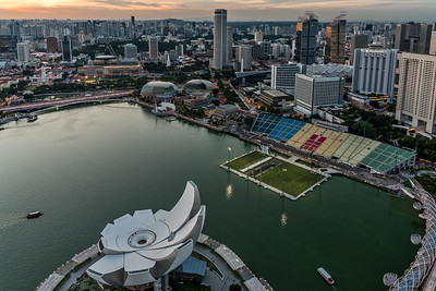 View from Marina Bay Sands SkyPark.