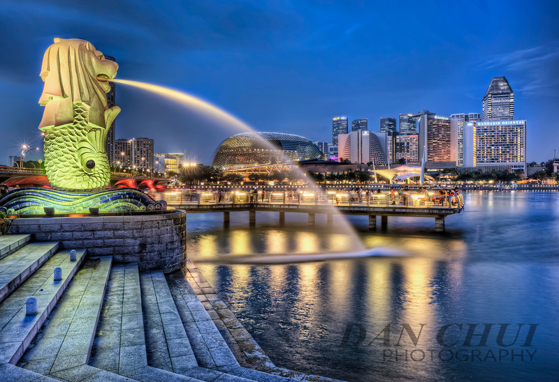Blue Merlion