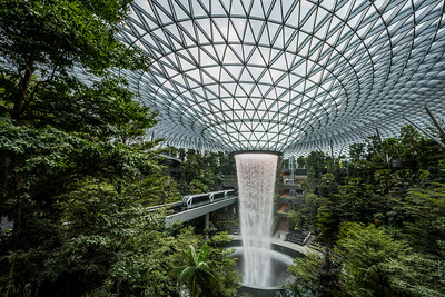 The Rain Vortex at Jewel Changi Airport.