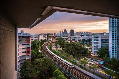 View of Bishan town from Ang Mo Kio.