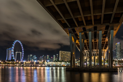 Under the Benjamin Sheares Bridge.