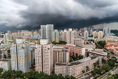 Storm clouds over Singapore.