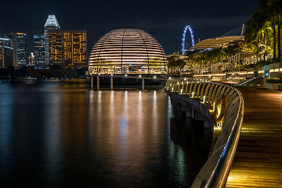 View of Apple Marina Bay Sands at night.