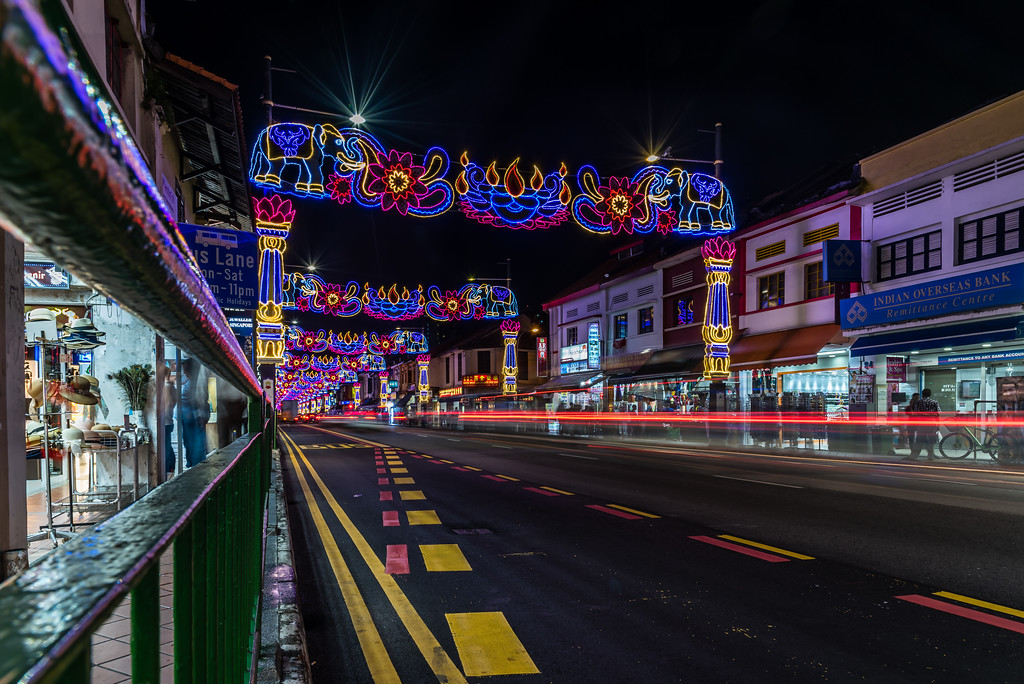 Deepavali lights display at Little India.