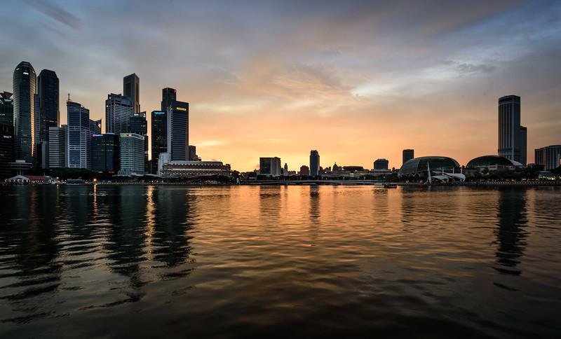 Sunset over Marina Bay