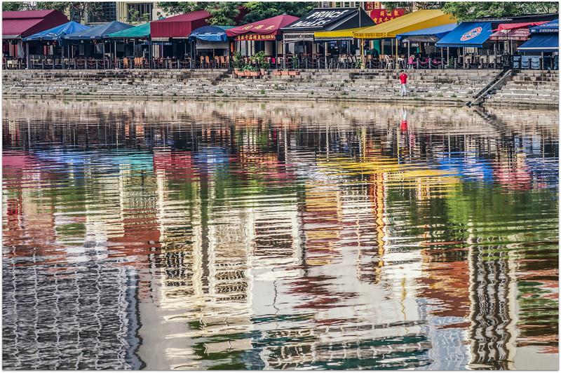 Morning Reflections  Clarke Quay
