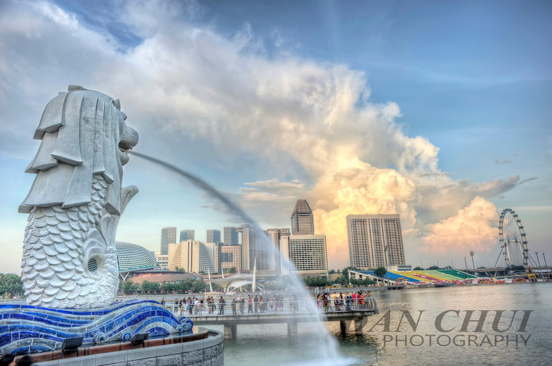 Clouds over Merlion