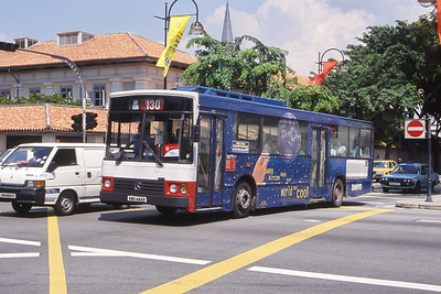 Singapore Bus Services SBS444D  Bras Basah Rd Singapore Sep 98