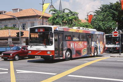 Singapore Bus Services SBS901B  Bras Basah Rd Singapore Sep 98