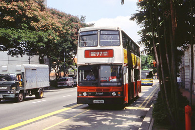 Singapore Bus Services SBS6921D  Bras Basah Rd Singapore Sep 98