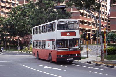 Singapore Bus Services SBS7100A Hougang Interchange Singapore Sep 98