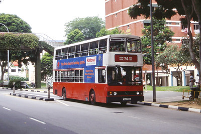 Singapore Bus Services SBS7105L Hougang Central Singapore Sep 98