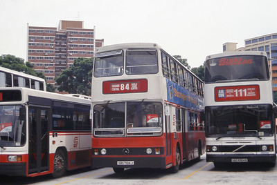 Singapore Bus Services SBS7106J Hougang Central Singapore Sep 98