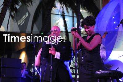 Singer Gloria Gaynor at Design District Miami