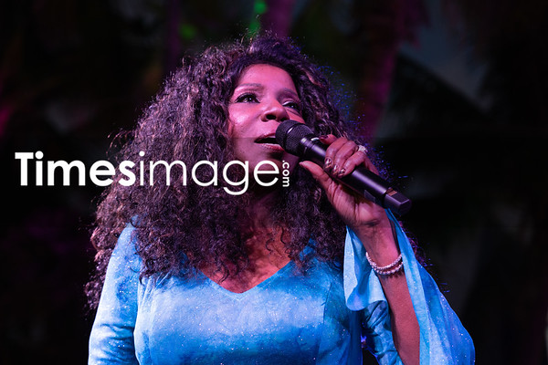 Singer Gloria Gaynor at Design District Miami