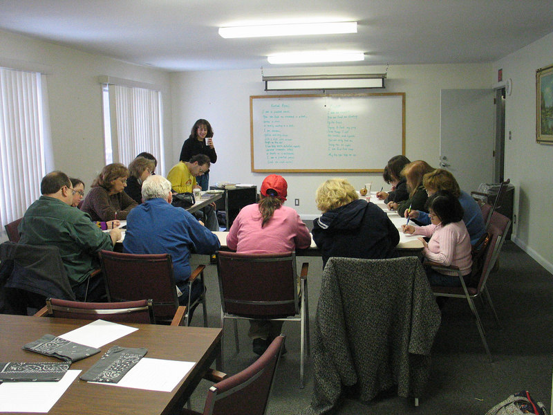 Martha Manikas-Foster presented a writing workshop.