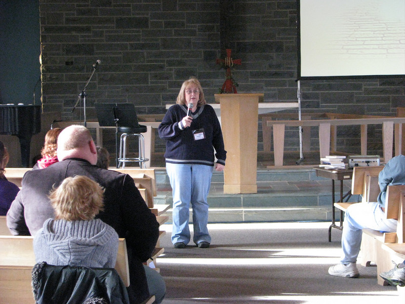 Debbie Fero, Event Coordinator for Family Life and SALSA leadership team member, explains her workshop on prayer.