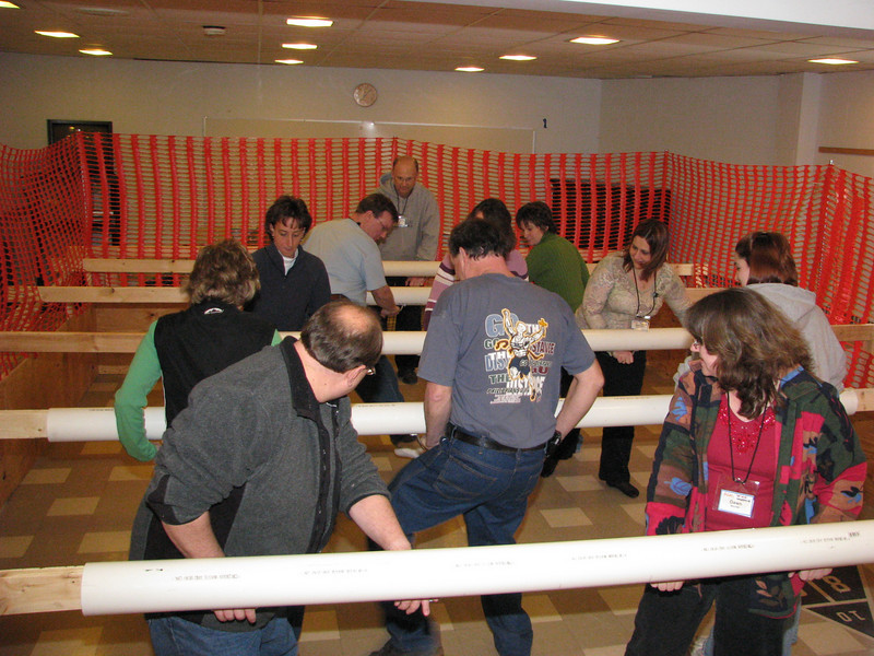 This year, a new attraction was added to the weekend - a human-size Foosball Game.  It was a big hit!  Notice our speaker, Sherrie playing right midfield (facing camera) and Cal playing goalie.