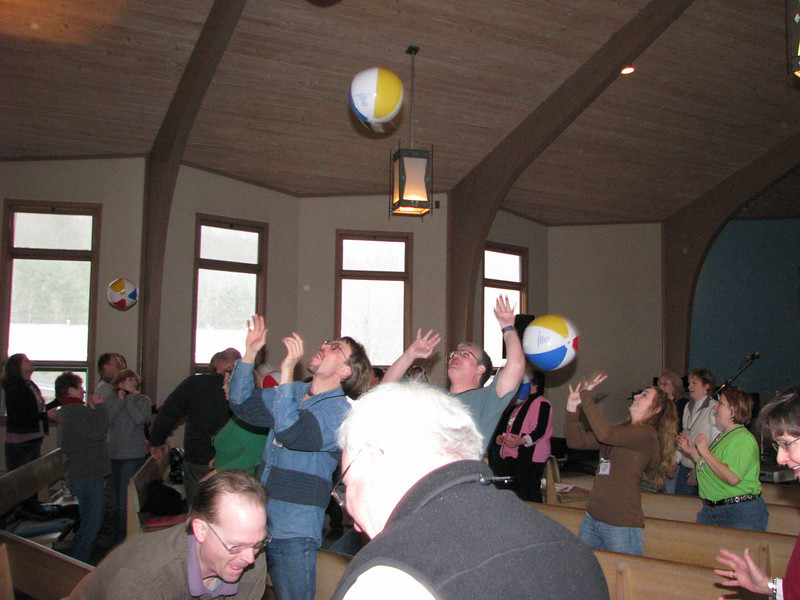 Yes, those really are beach balls at our SALSA WINTER retreat!