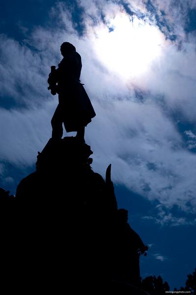 Jefferson's Statue, Charlottesville, VA, USA.