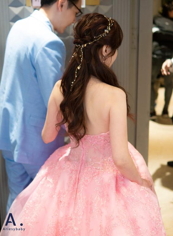 新祕,Ariesybaby造型團隊,細軟髮新娘,送客造型,浪漫公主頭