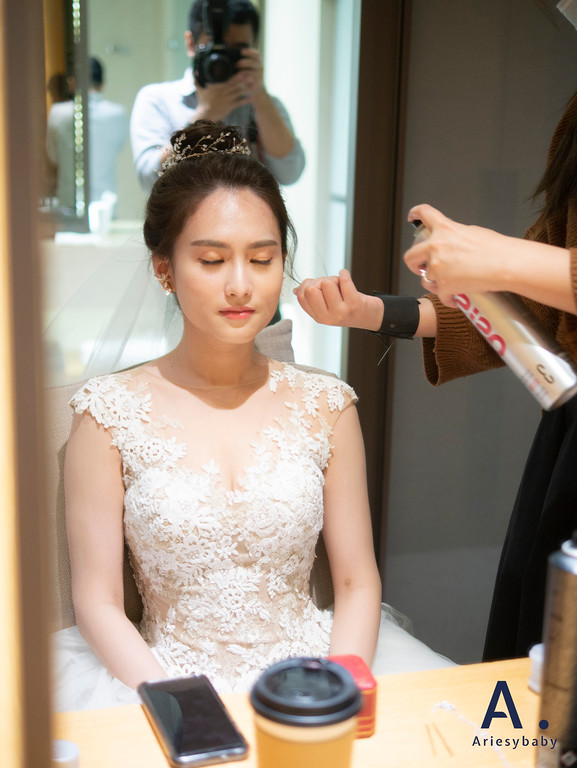 新祕,Ariesybaby造型團隊,白紗造型,韓系丸子頭,清透自然妝感