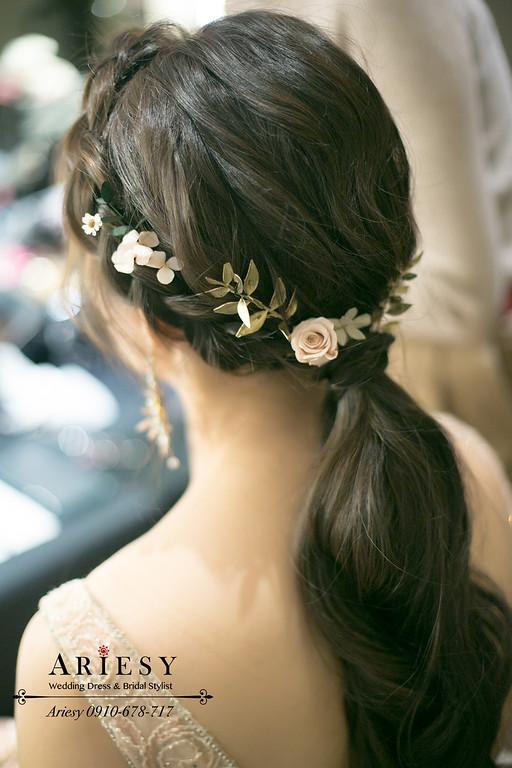 晶華酒店婚禮,新娘秘書,新秘,台北新秘推薦,敬酒新娘造型,編髮新娘髮型