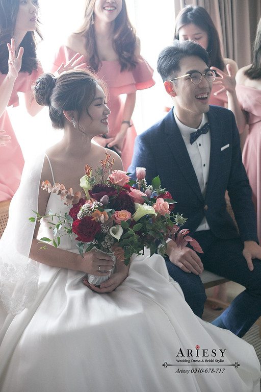 韓風新娘造型,白紗新娘髮型,晶華酒店婚禮,新娘秘書,新秘,台北新秘推薦