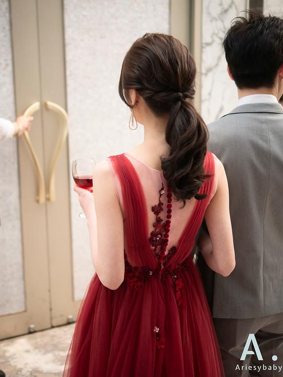 新祕,Ariesybaby造型團隊,敬酒造型,紅色禮服造型