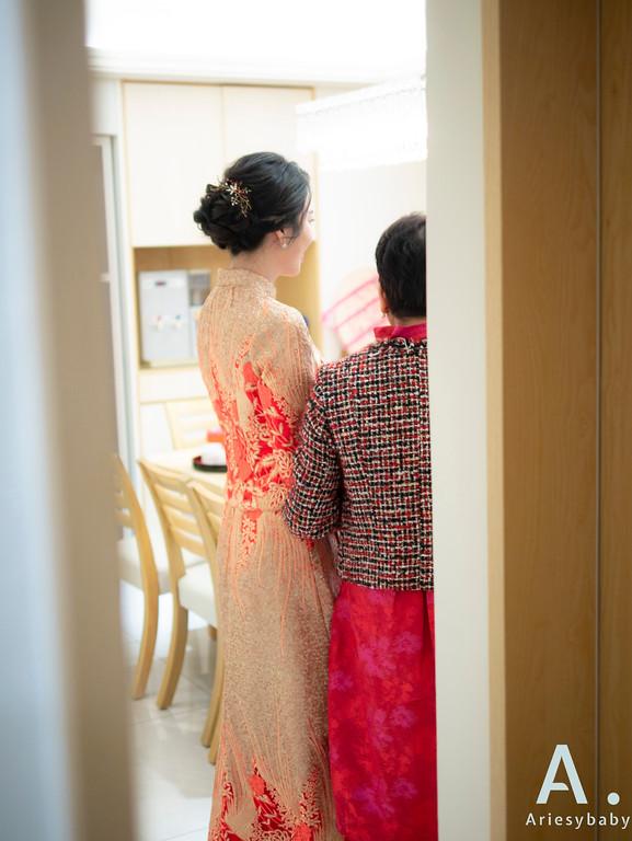 台北新秘,細軟髮新娘,黑髮新娘,編髮造型,文定造型,龍鳳掛造型