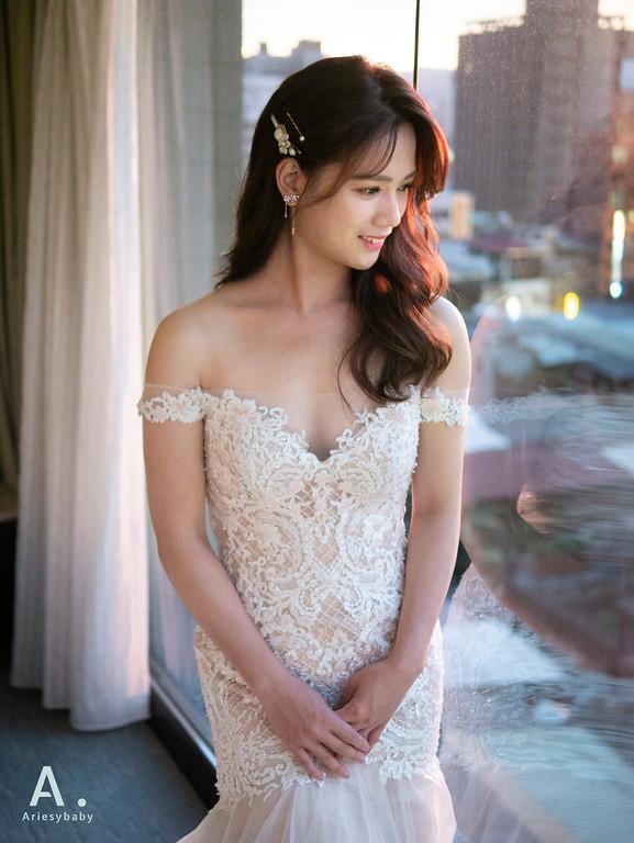 新祕,Ariesybaby造型團隊,細軟髮新娘,送客造型,浪漫大捲