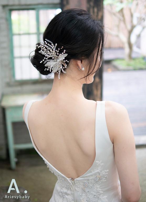 新祕,Ariesybaby造型團隊,白紗造型,韓系清透妝感,低盤髮