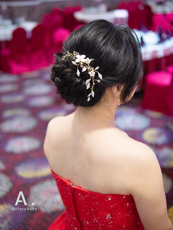 新祕,Ariesybaby造型團隊,黑髮新娘,細軟髮新娘,文定造型