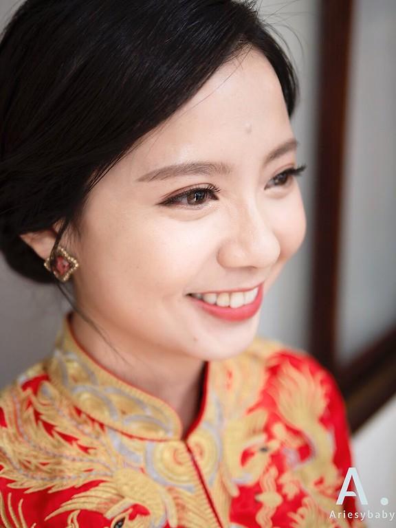 新祕,Ariesybaby造型團隊,自然清透妝感,龍鳳掛造型,新娘髮型