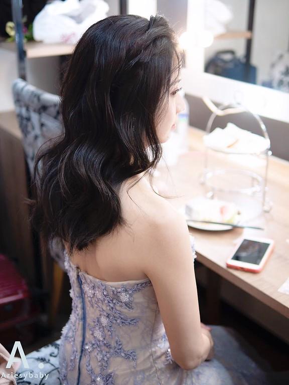 新祕,Ariesybaby造型團隊,自然清透妝感,敬酒造型,新娘髮型